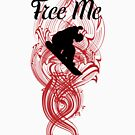 Free Me Snowboarder T-Shirt by artism