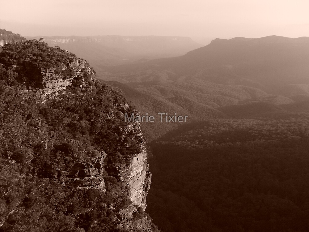 sunset in sepia by Marie Tixier