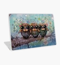 three little night owls Laptop Skin