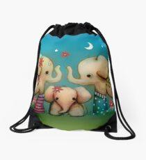 baby elephant Drawstring Bag