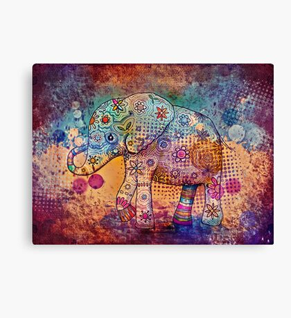 indie elephant Canvas Print