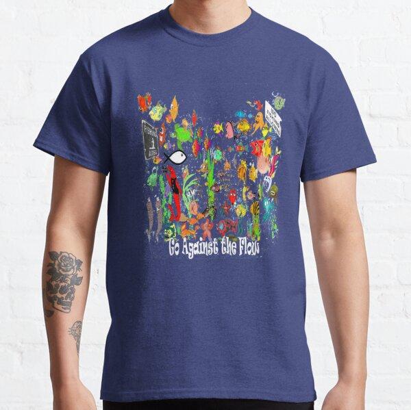 Ir contra el flujo Christian Fish Symbol Witness Camiseta clásica