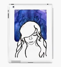 Blue Water Color Girl iPad Case/Skin