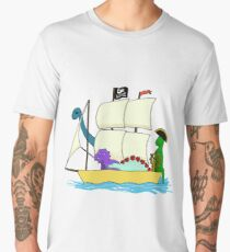Dinosaur pirates sail the seven seas Men's Premium T-Shirt