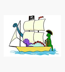 Dinosaur pirates sail the seven seas Photographic Print