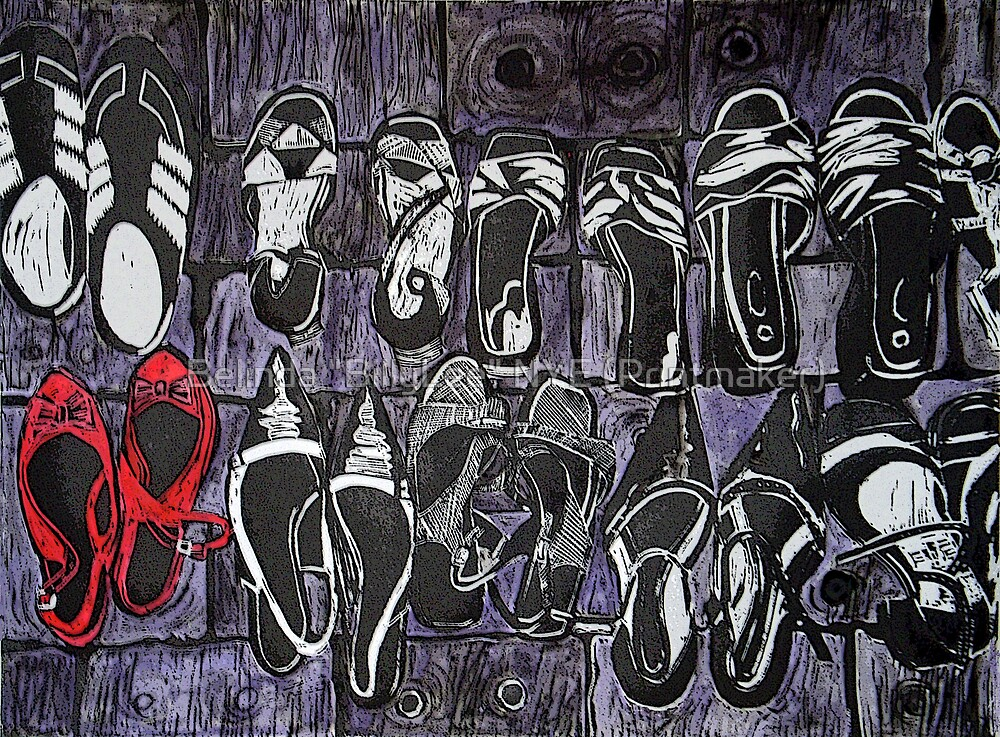 "My Red Shoes by Belinda ""BillyLee"" NYE (Printmaker)"