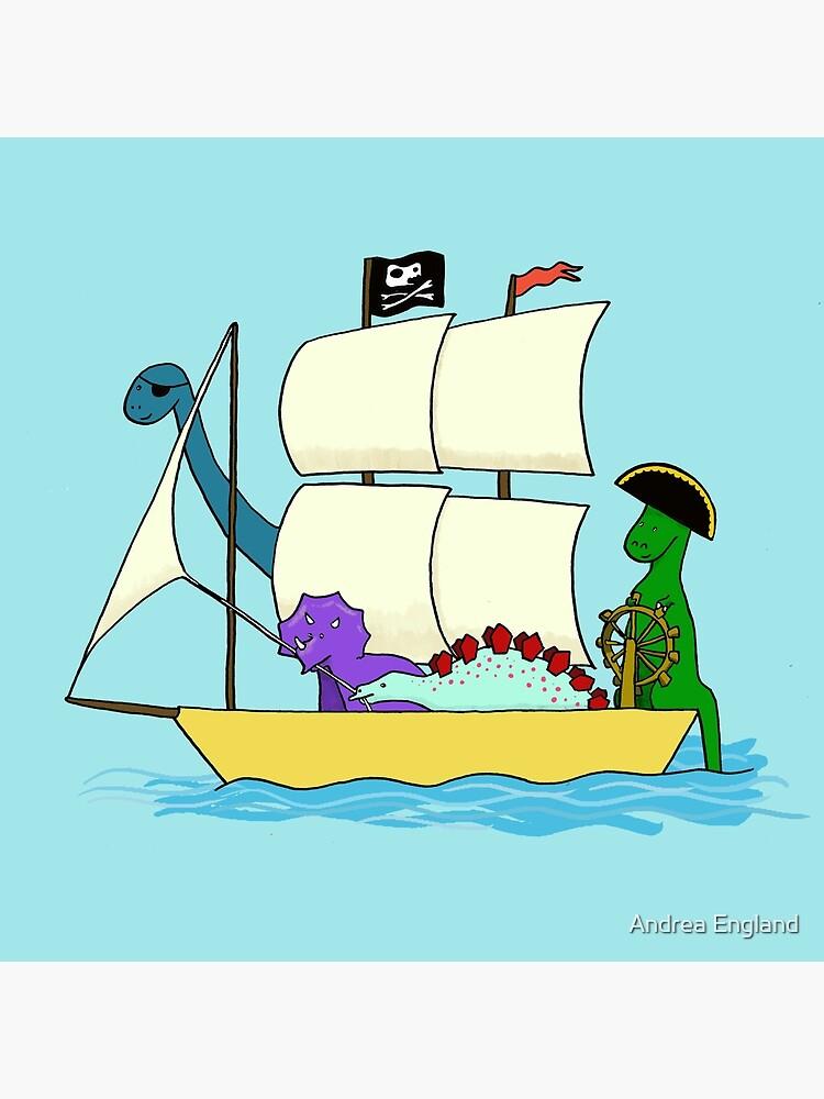 Dinosaur pirates sail the seven seas by andreaengland