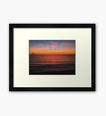 Sunrise Rays Framed Print