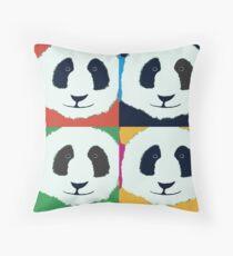 Panda Warhol Throw Pillow