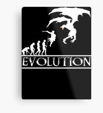 Skyrim Evolution Metal Print