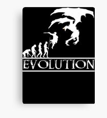 Skyrim Evolution Canvas Print