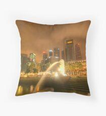 Singapore City Throw Pillow
