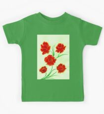 Poppy watercolor Kids Tee