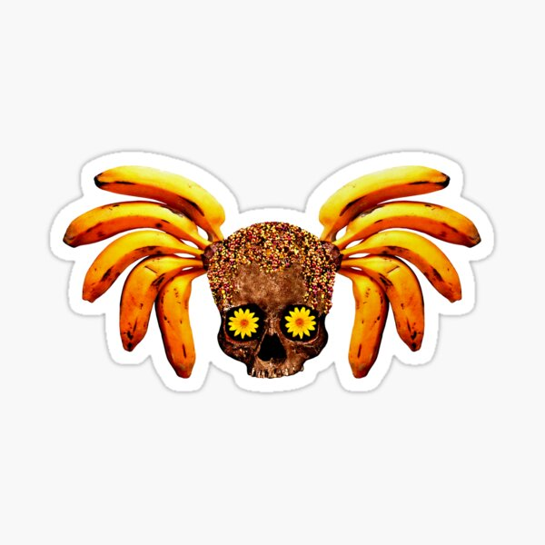 Banana Skull Sticker