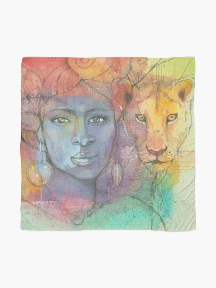 Alternative Ansicht von Löwengöttin Tuch