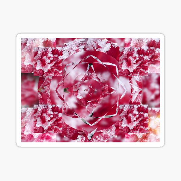 Frosty Rose from the Kaleidoscope Collection Sticker