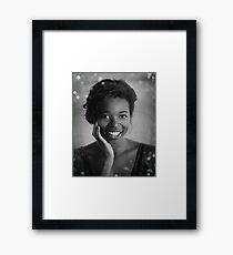 Trisha BW Portrait  Framed Print