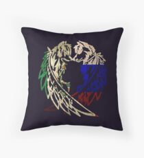 MEXICO RUSSIA WOLF LOVE Throw Pillow