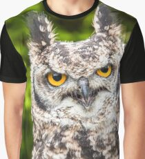 African Spotted Eagle Owl Graphic T-Shirt