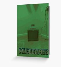 Late Night Videogames Greeting Card