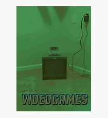 Late Night Videogames Photographic Print