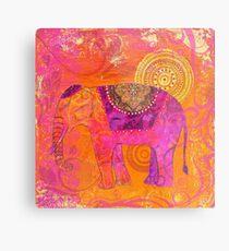 Happy Elephant II Metal Print
