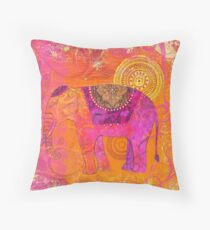 Happy Elephant II Throw Pillow