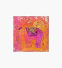 Happy Elephant II Art Board