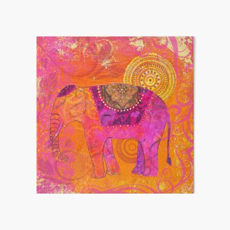 Happy Elephant II Art Board Print