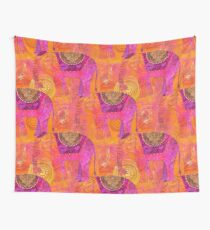 Happy Elephant II Wall Tapestry
