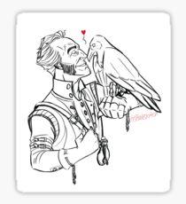 Regis the Raven Whisperer Sticker
