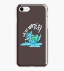 Save Water Earth Protect Eco Environmental Design iPhone Case/Skin