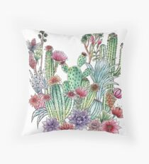 Cactus garden Throw Pillow