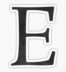 Letter E Initial Monogram Black and White Sticker