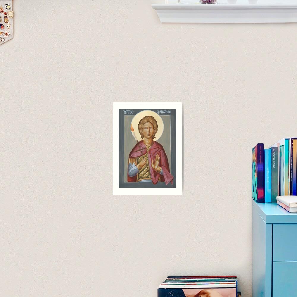 St Phanourios Art Print