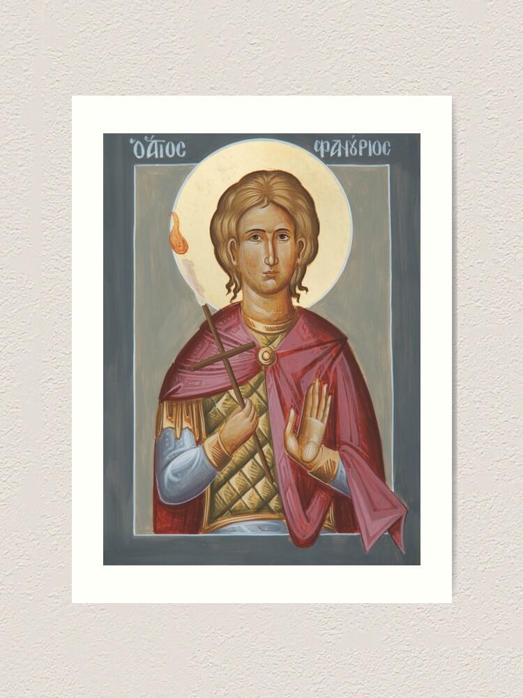 Alternate view of St Phanourios Art Print