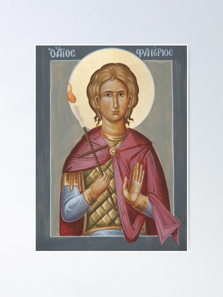 Alternate view of St Phanourios Poster