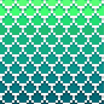 Pixel Mermaid Scales by finntheraver