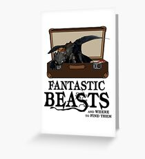 Toothless Dragon The Fantastic Beast Greeting Card