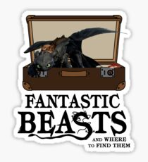 Toothless Dragon The Fantastic Beast Sticker