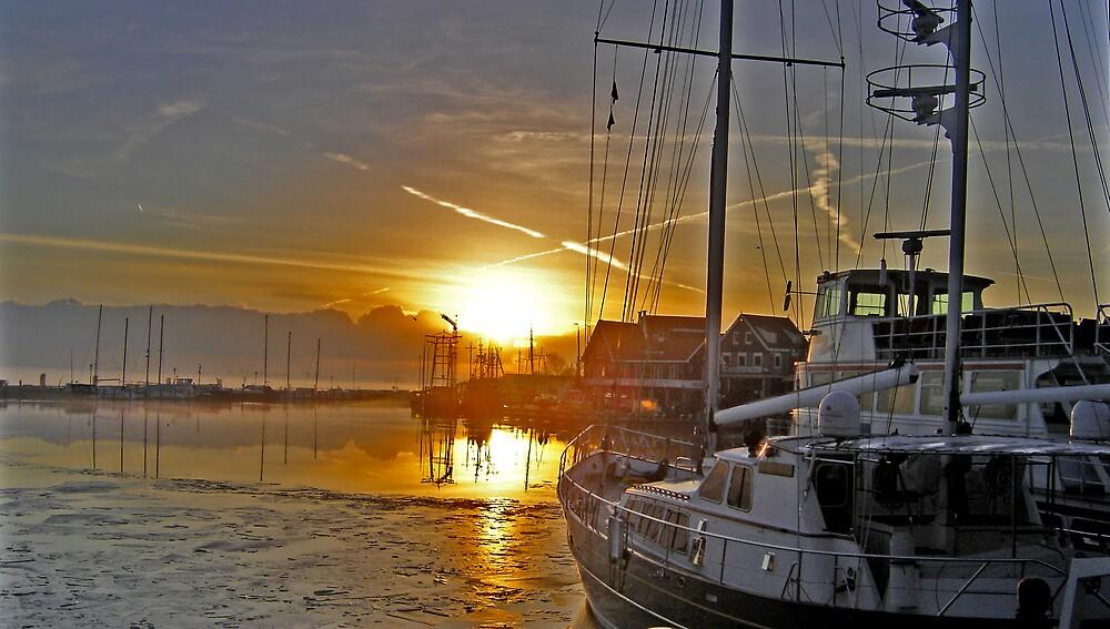 Volendam Sunset by Marilyn Brown