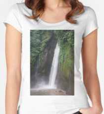 Munduk Indonesia. Red coral waterfall. Women's Fitted Scoop T-Shirt