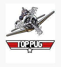 Top Pug Pilot Photographic Print