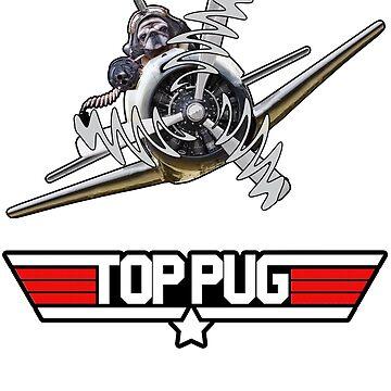 Top Pug Pilot by Bubolina
