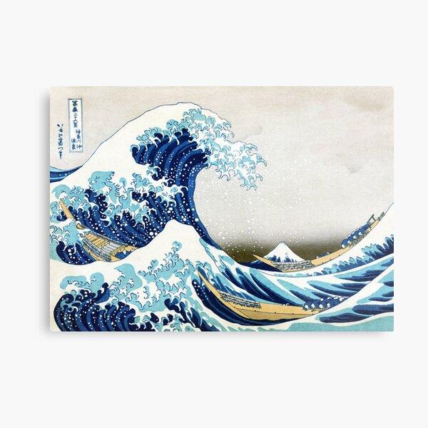 La grande vague de Kanagawa Impression métallique