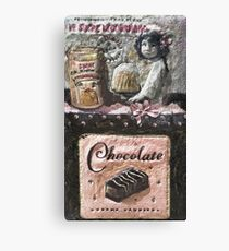 Chocolat   My Creations Artistic Sculpture Relief fact Main 53  (c)(h) by Olao-Olavia / Canvas Print