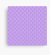 Purple Mermaid Scales Canvas Print