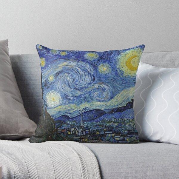 Starry Night - Van Gogh Throw Pillow
