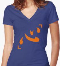 Netero Lucky Shirt Symbol (Heart/Mind) Anime Shirt Women's Fitted V-Neck T-Shirt