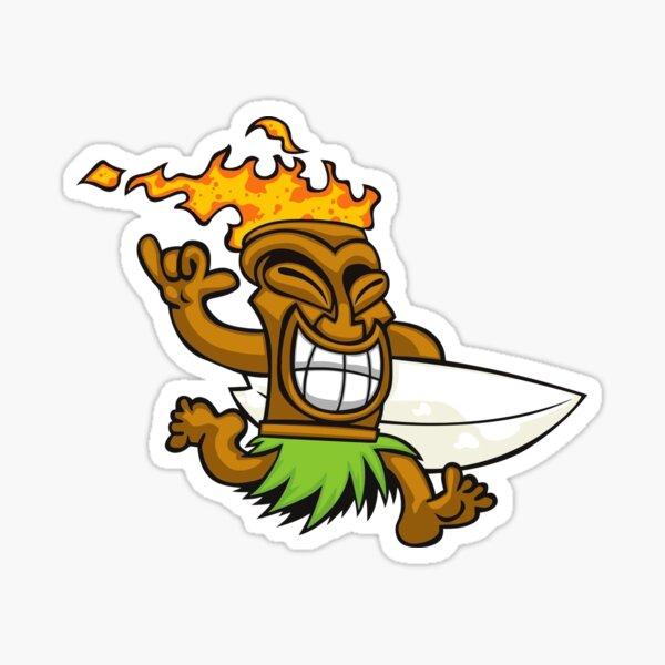 Tiki surfer Sticker